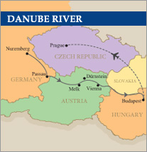 Danube River Golf Cruise map