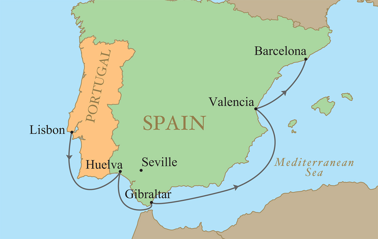 Spain Portugal Golf Vacation Kalos Golf Cruises